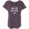 CustomCat T-Shirts Vintage Purple / X-Small Cute Crazy White-Pink Font Ladies' Triblend Dolman Sleeve
