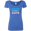 CustomCat T-Shirts Vintage Royal / S Coffee Comfy Cute Multi-Color Ladies' Triblend Scoop