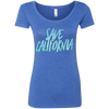 CustomCat T-Shirts Vintage Royal / S Save California Multi-Color Ladies' Triblend Scoop