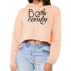 Print Aura Hoodie Small / Peach Be Comfy Cropped Sweatshirt