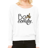 Print Aura Sweaters Small / White Be Comfy Slouchy Long Sleeve Tee