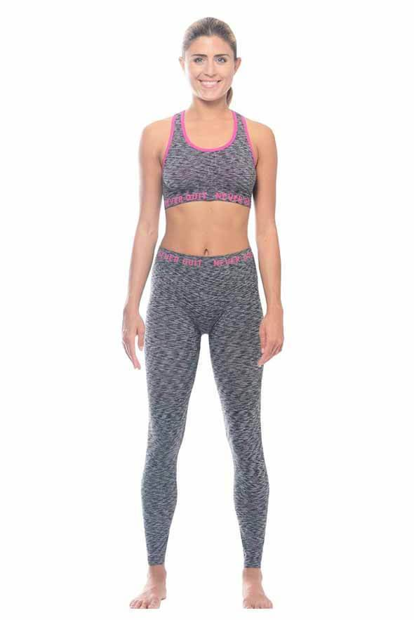 White Plum Apparel Small / Black Under Control Active Set