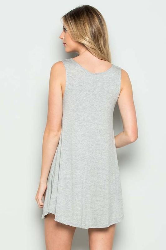 White Plum Dress Large / Heather Grey I Love the Flag Tank Top in Heather Gray