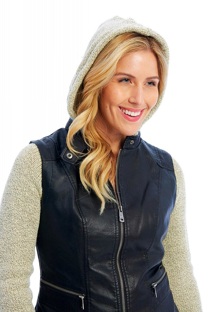 White Plum Jackets X-small Versatility Vest With Removable Hood & Sleeves