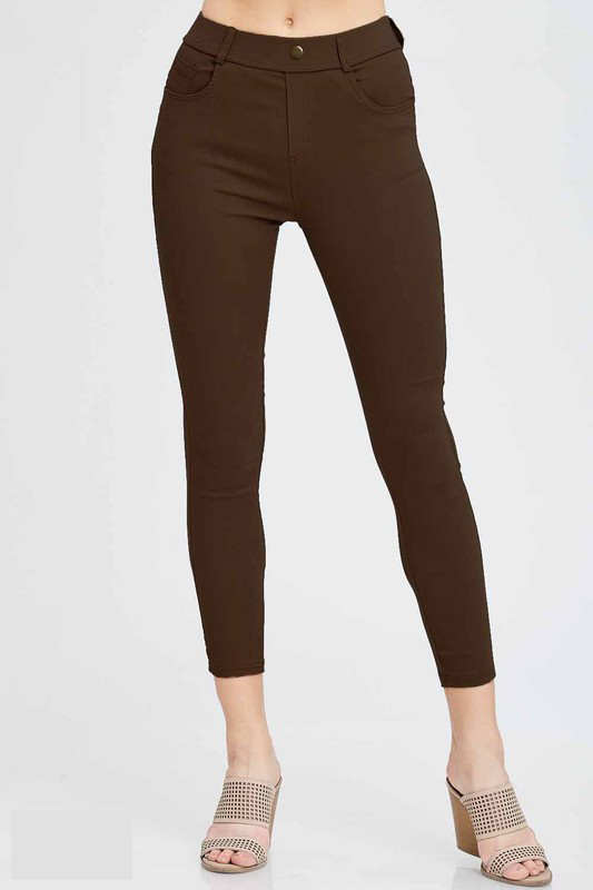 White Plum Jeggings Small / Dark Brown Life In Style Jeggings - Multiple Colors