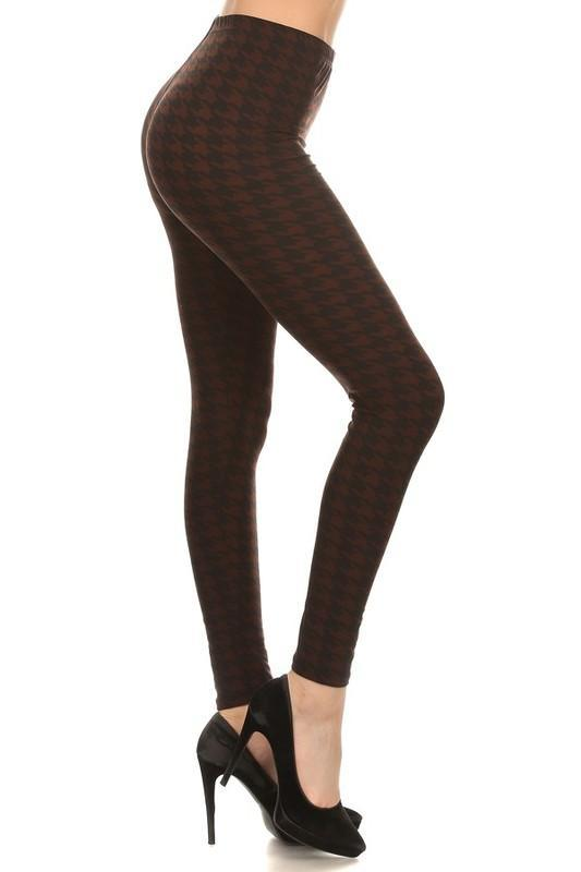 White Plum Leggings Famous Detective Houndstooth Legging