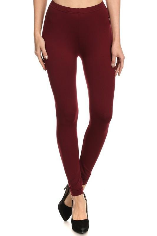 White Plum Leggings One Size / Burgundy Georgia Peach Leggings - 5 Colors!