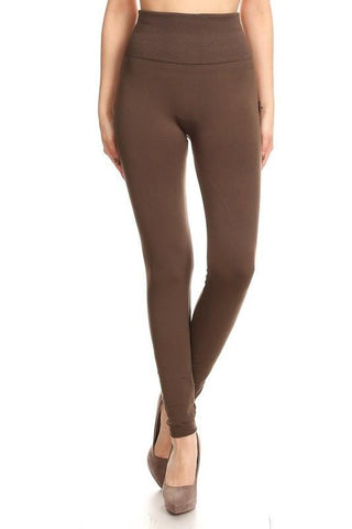 7a549987fb8e8 ... White Plum Leggings One Size / Cocoa Solid Fleece Leggings