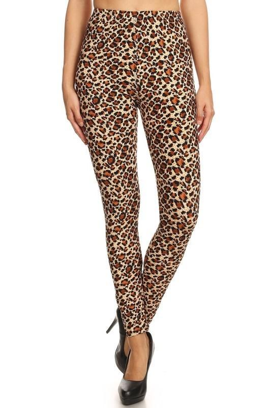 White Plum Leggings One Size / Multi Wild About Leopard Print Leggings