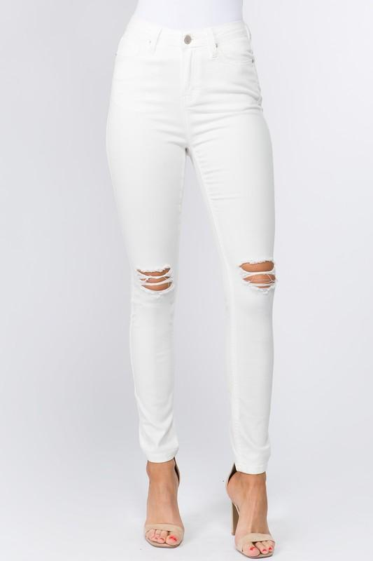 0c41bea391ee6 ... White Plum Pants 1   White High Waisted Distressed Skinny Jeans ...