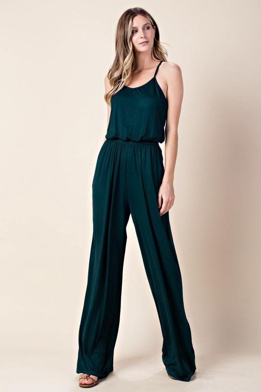 "White Plum Pants Small / Hunter Green ""Just One More"" Jumpsuit"