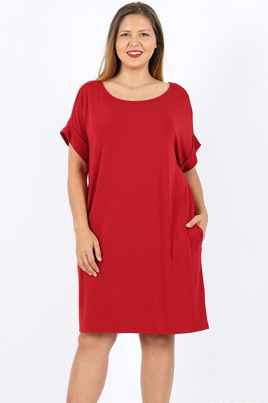 White Plum Plus Size T-Shirt Dress