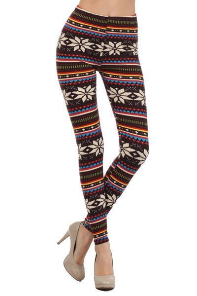 White Plum Print Leggings 'Tis The Season! Leggings