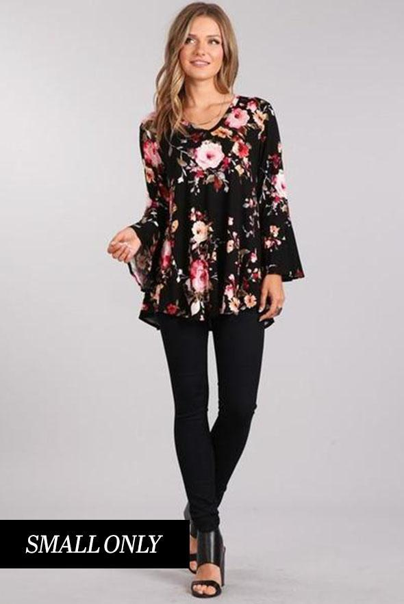 White Plum Tunics Bold in Black Tunic Top