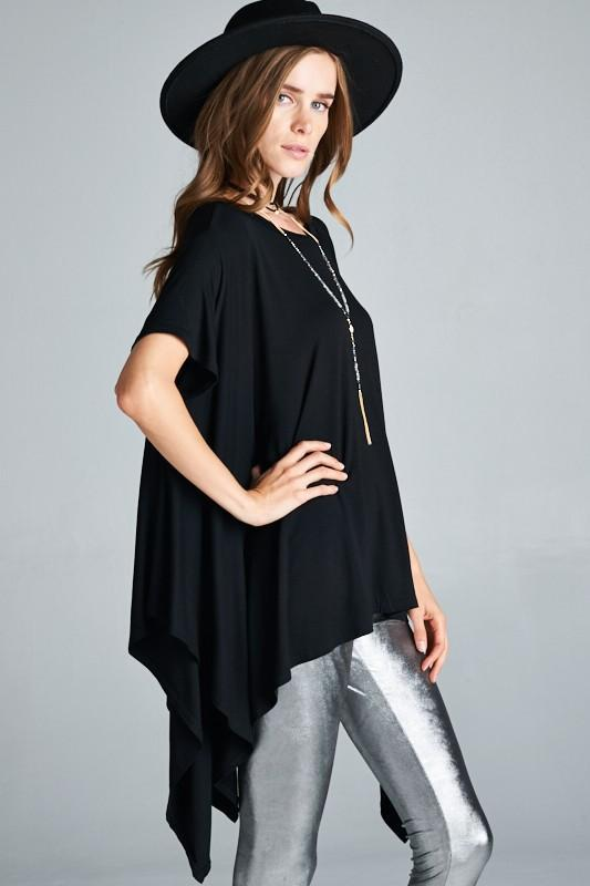 White Plum Tunics One Size / Black Let Loose Boho Tunic