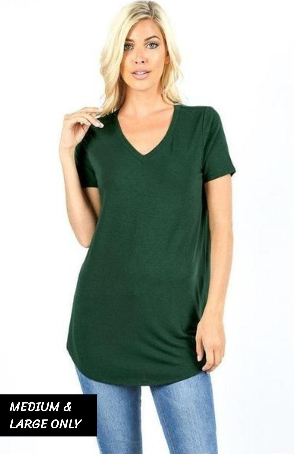 98378bf2cbe Essential Relaxed Fit V Neck SS Tunic Top - Multiple Colors! – White Plum