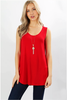 White Plum Tunics SMALL / Ruby Essential Solid Layering Tunic Tank - More Colors!