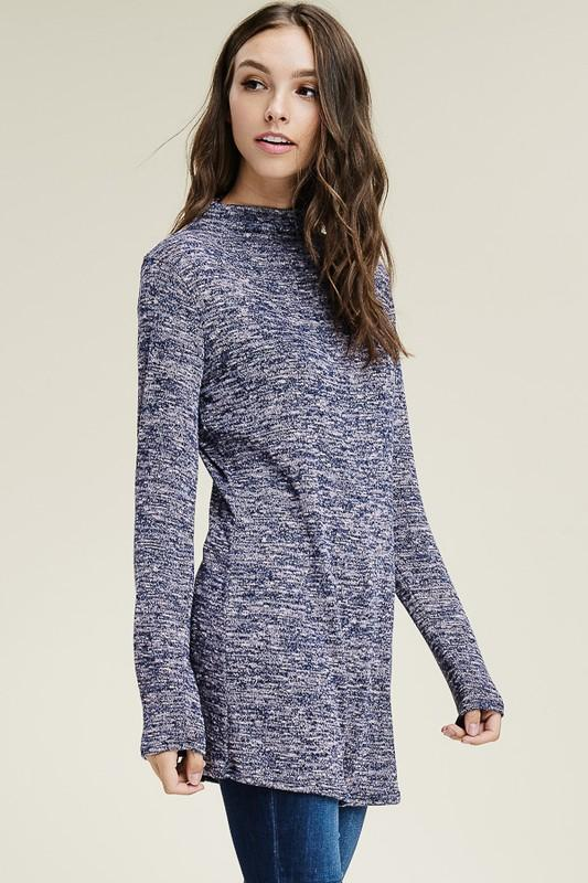 White Plum Tunics Small / Violet/Navy Cloudy Sky Hacci Tunic