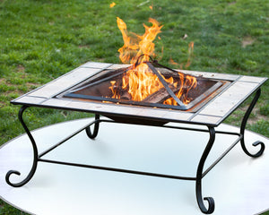 Charcoal Grill Fire Pit Mat Grass From High Radiant Heat Shield Deck Bbq Smoker Outdoor Patio