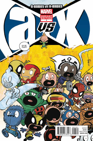 "A-Babies vs. X-Babies (2012 One-Shot) #1 (Variant ""Baby"" Cover - Skottie Young)"