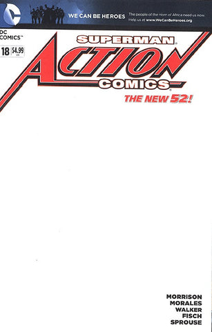 Action Comics (2011 Series) #18 (Variant Cover - Blank)