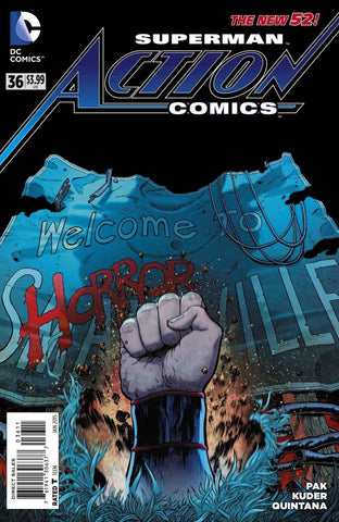"Action Comics (2011 series) #36 - Greg Pak & Aaron Kuder. ""Horrorville"" Horrorville pt 1 (of 4)"