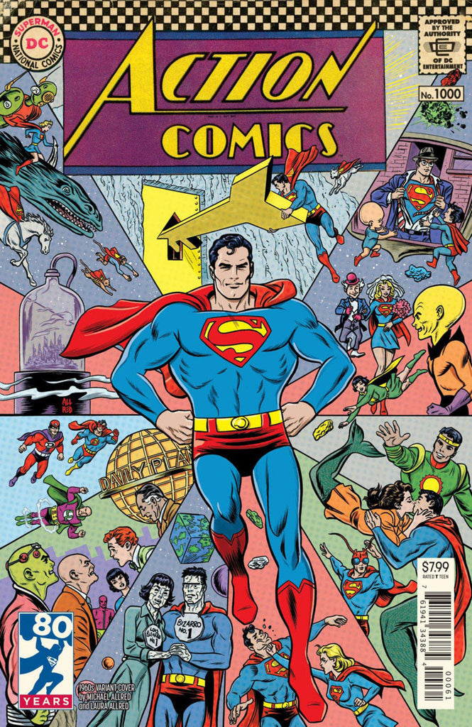 "Action Comics (2016 Series) #1000 (Variant ""1960's"" Cover - Michael Allred)"