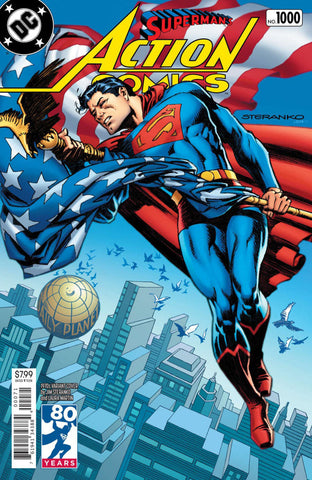 "Action Comics (2016 Series) #1000 (Variant ""1970's"" Cover - Jim Steranko)"