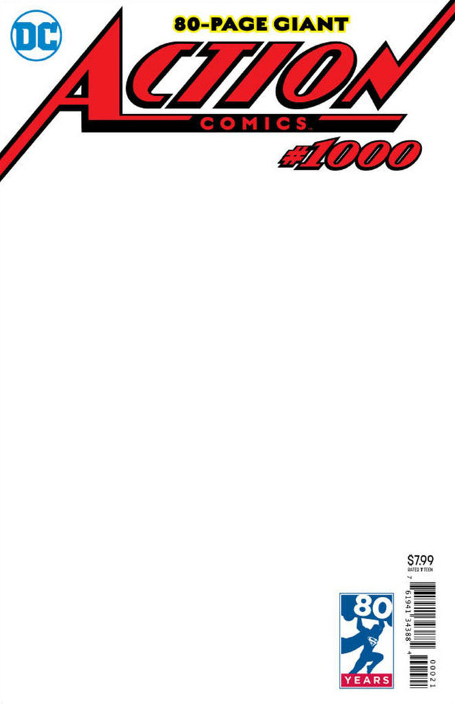 Action Comics (2016 Series) #1000 (Variant Cover - Blank)