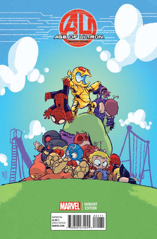 "Age of Ultron (2013 Mini-Series) #1 of 10 (Variant ""Baby"" Cover - Skottie Young)"