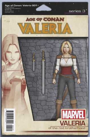"Age of Conan; Valeria (2019 mini-series) #1 (of 5) (Variant ""Action Figure"" Cover - John Tyler Christopher)"