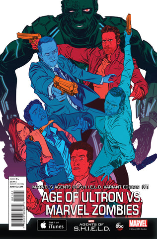 "Age of Ultron vs. Marvel Zombies (2015 mini-series) #1 (of 4) (Variant ""Agents of S.H.I.E.L.D. Cover - Nathan Fox)"