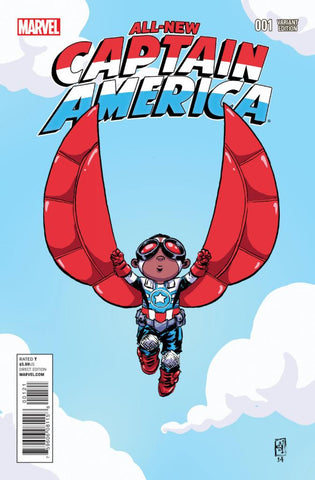 "All-New Captain America (2014 Series) #1 (Variant ""Baby"" Cover - Skottie Young)"