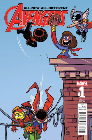 "All-New, All-Different Avengers (2015 Series) Annual #1 (Variant ""Baby"" Cover - Skottie Young)"