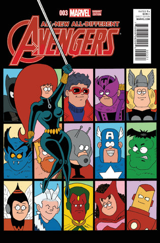 "All-New, All-Different Avengers (2015 Series) #3 (Variant ""Artist"" Cover - Fred Hembeck)"