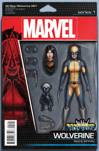 "All-New Wolverine (2015 Series) #1 (Variant ""Action Figure"" Cover - John Tyler Christopher)"