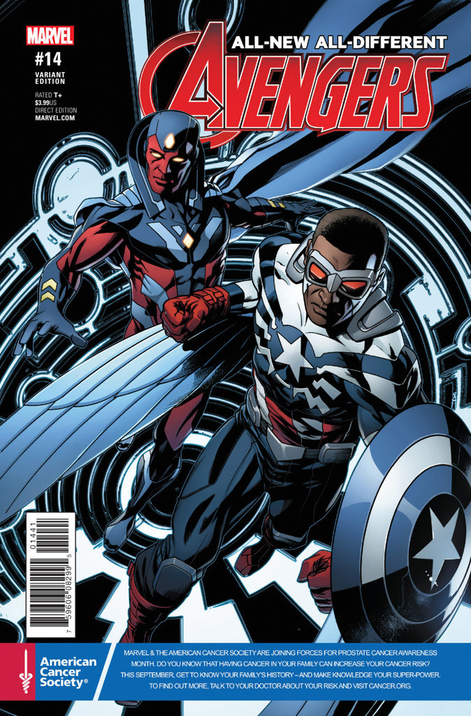 "All-New, All-Different Avengers (2015 Series) #14 (Variant ""Prostate Cancer Awareness"" Cover - Mike McKone)"
