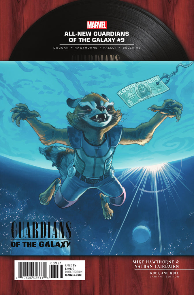 "All-New Guardians of the Galaxy (2017 Series) #9 (Variant Incentive ""Rock N Roll"" Cover - Mike Hawthorne)"