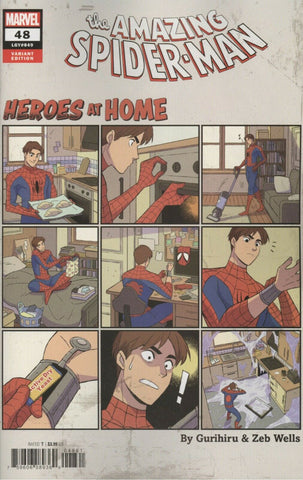 "Amazing Spider-Man (2018 series) #48 (Variant ""Heroes at Home"" Cover - Gurihiru)"