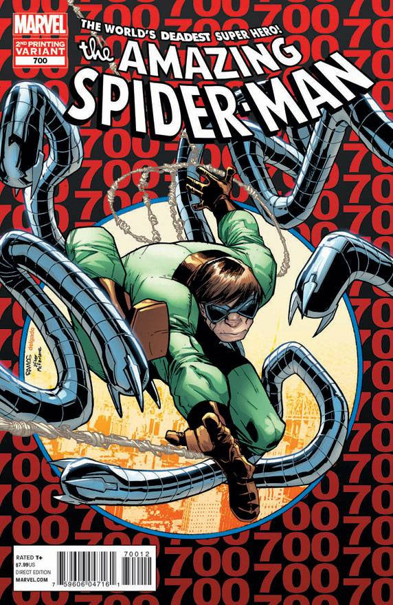 Amazing Spider-Man (1999 Series) #700 (Variant 2nd Printing Cover - Humberto Ramos)