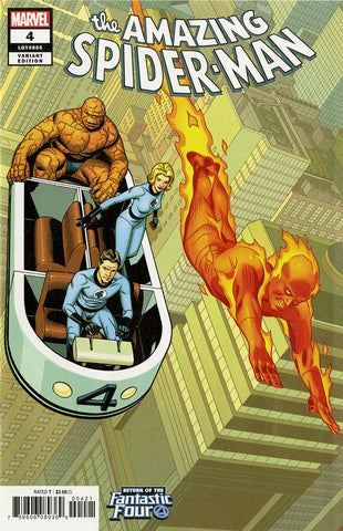 "Amazing Spider-Man (2018 series) #4 (Variant ""Return of the Fantastic Four"" Cover - Chris Sprouse)"