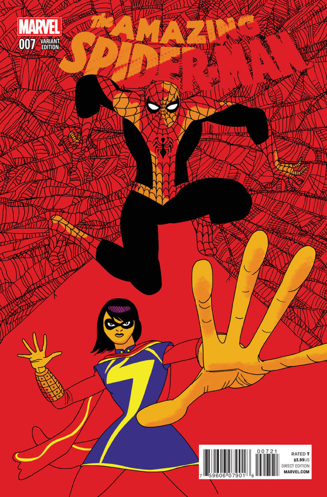Spider-Man (2014 series) #07-8 [SET] — The Ms. Marvel Team-Up (All Variant Incentive Covers)