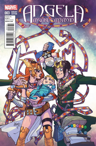 Angela; Asgard's Assassin (2014 mini-series) #3 (of 6) (Variant Incentive Cover - David Lafuente)