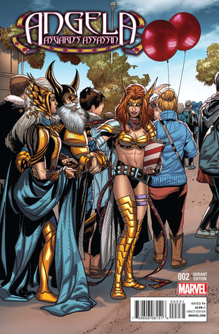 "Angela; Asgard's Assassin (2014 mini-series) #2 (of 6) (Variant Incentive ""Welcome Home"" Cover - Salvador Larroca)"