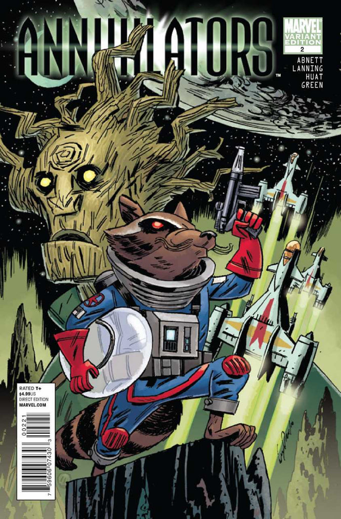 "Annihilators (2011 Mini-Series) #2 (Variant ""Rocket Raccoon and Groot"" Cover - Guy Davis)"