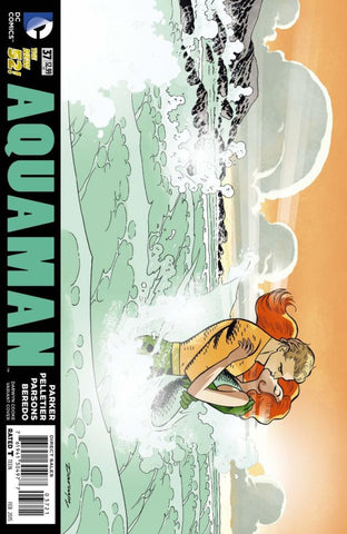 "Aquaman (2011 Series) #37 (Variant ""Artist"" Cover - Darwyn Cooke)"