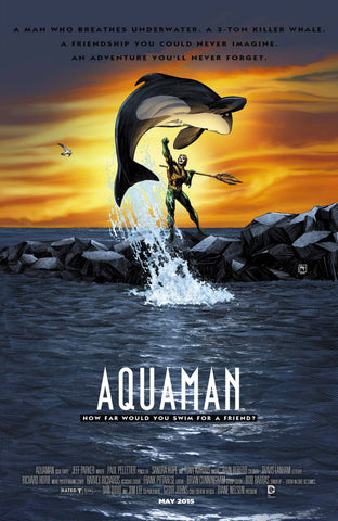 "Aquaman (2011 Series) #40 (Variant ""Movie Poster"" Cover - Richard Horrie)"