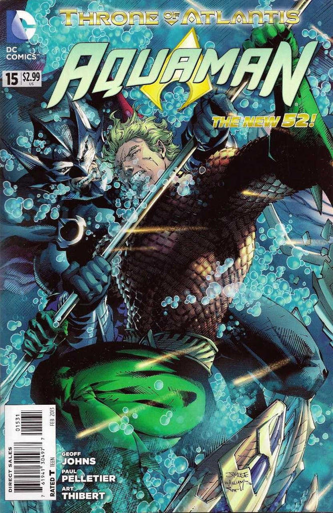 "Aquaman (2011 Series) #15 (Variant Incentive ""Throne of Atlantis"" Connecting Cover - Jim Lee)"