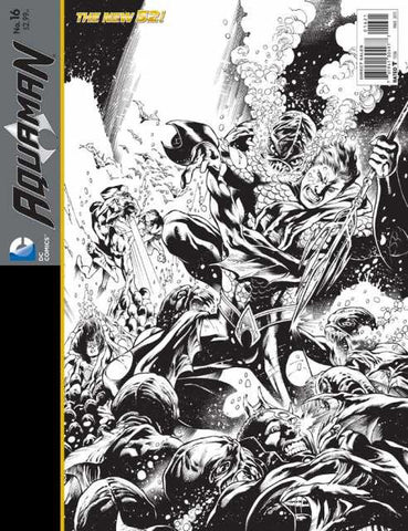 Aquaman (2011 Series) #16 (Variant Incentive B&W Wrap Cover - Eddy Barrows)