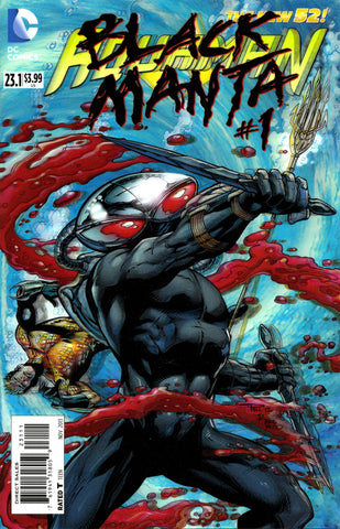 "Aquaman (2011 Series) #23.1 Black Manta (Variant ""3-D"" Cover - Paul Pelletier)"